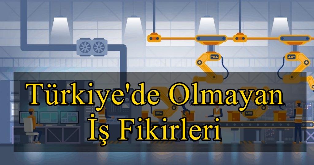 Türkiye'de olmayan iş fikirleri listesi